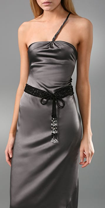 Deepa Gurnani Beaded Skinny Belt