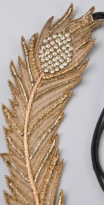 Deepa Gurnani Feather Headband