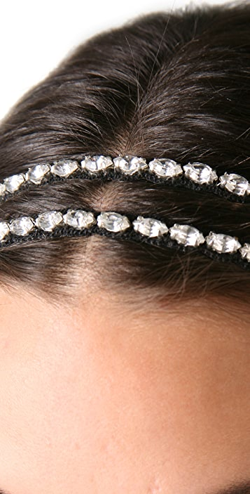 Deepa Gurnani Double Crystal Headband
