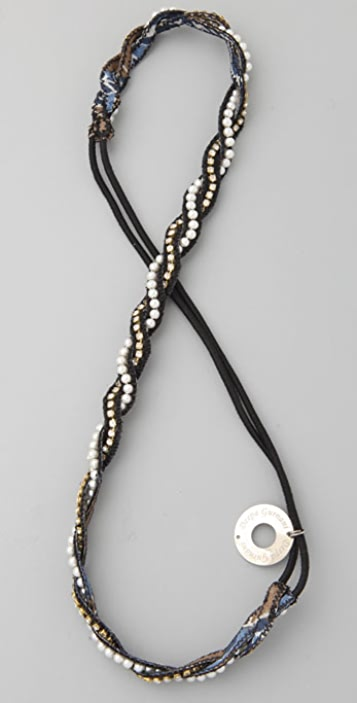 Deepa Gurnani Pearl Twist Headband