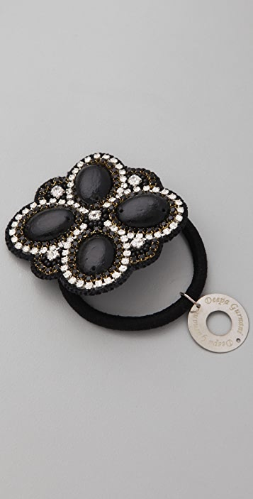 Deepa Gurnani Flower Crystal Hair Tie