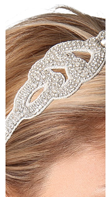 Deepa Gurnani Crystal Scroll Headband