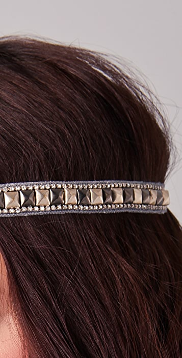 Deepa Gurnani Pyramid Studded Headband