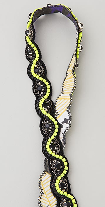 Deepa Gurnani Neon Beaded Headband