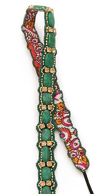 Deepa Gurnani Embellished Stone & Crystal Headband