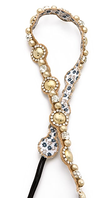 Deepa Gurnani Light Gold Pearlized Headband