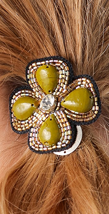 Deepa Gurnani Flower Beaded Hair Tie