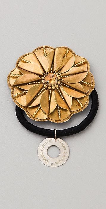 Deepa Gurnani Antique Gold Flower Hair Tie