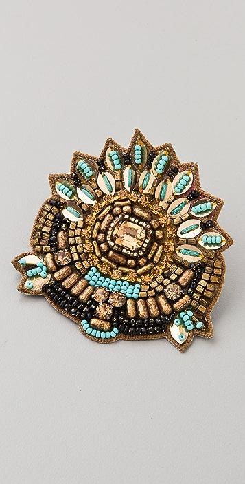 Deepa Gurnani Aztec Hair Clip
