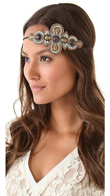 Deepa Gurnani Stone Applique Headband