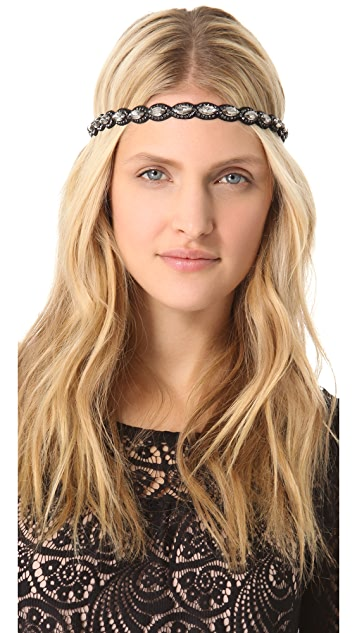 Deepa Gurnani Metallic Embellished Headband