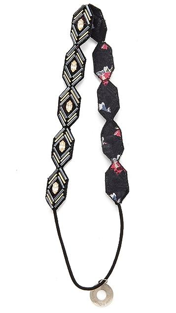 Deepa Gurnani Metallic Motif Headband