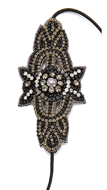 Deepa Gurnani Metal Applique Headband