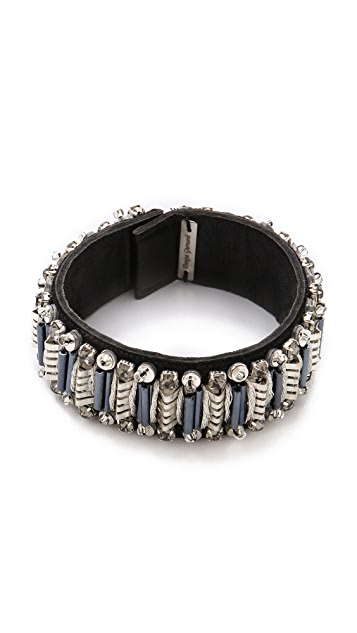 Deepa Gurnani Embellished Leather Cuff