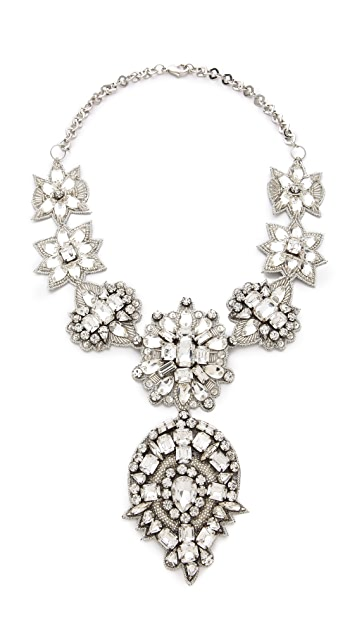 Deepa Gurnani Crystal Applique Statement Necklace