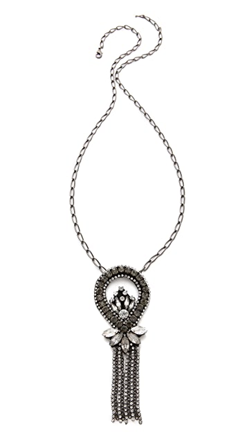 Deepa Gurnani Chandelier Pendant Necklace