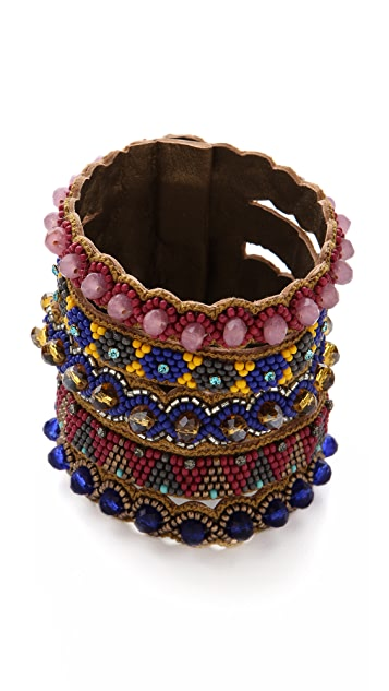 Deepa Gurnani Tribal Stacked Cuff