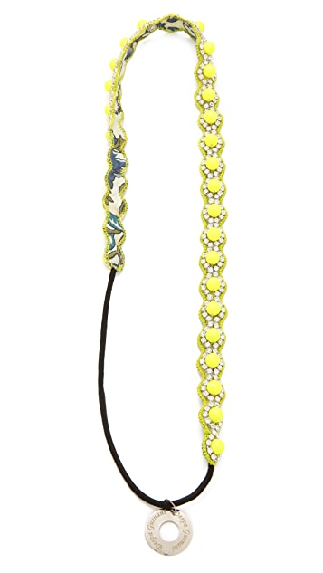 Deepa Gurnani Neon Beaded Headband