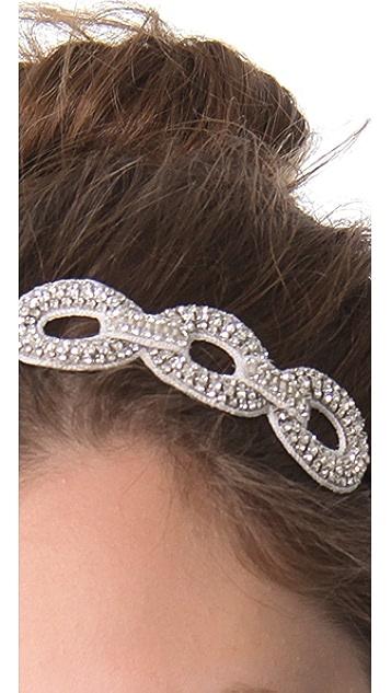 Deepa Gurnani Crystal Link Applique Headband