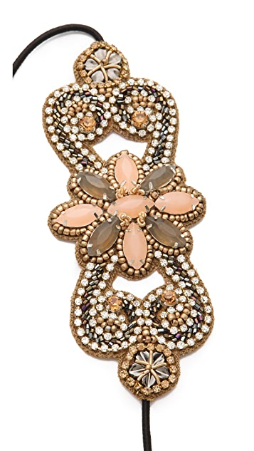 Deepa Gurnani Crystal Flower Applique Headband