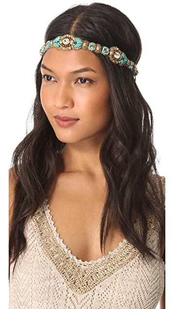 Deepa Gurnani Crystal Beaded Headband