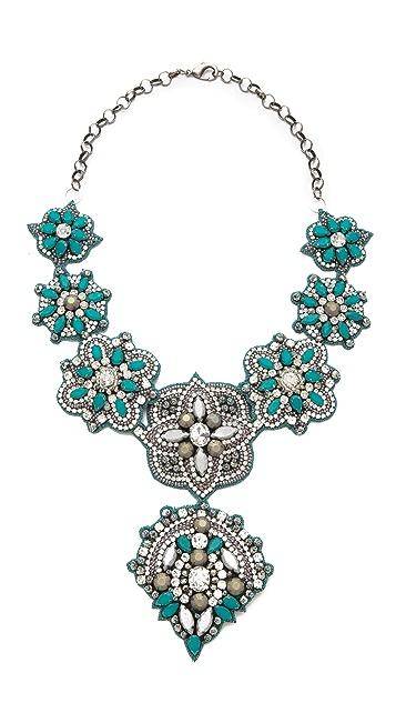 Deepa Gurnani Embellished Pendant Necklace