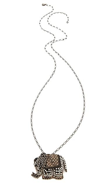 Deepa Gurnani Elephant Pendant Necklace