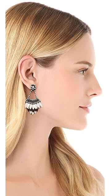 Deepa Gurnani Crystal Petal Earrings