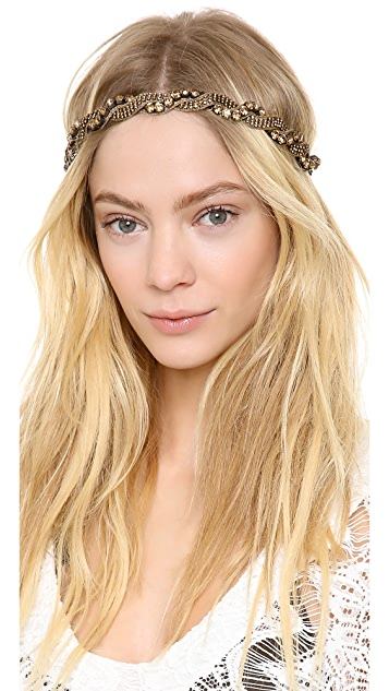 Deepa Gurnani Twisted Crystal Headband