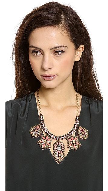 Deepa Gurnani Floral Statement Necklace