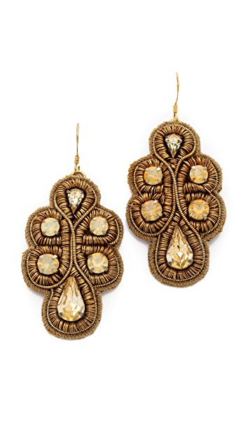 Deepa Gurnani Embellished Drop Earrings