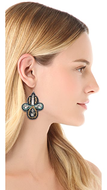 Deepa Gurnani Two Tone Crystal Earrings