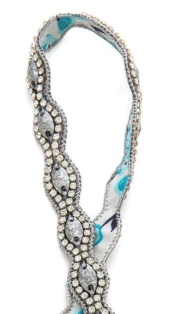 Deepa Gurnani Crystal & Bead Headband