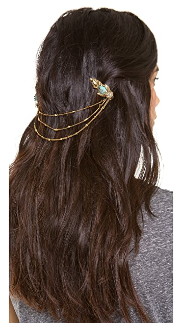 Deepa Gurnani Draping Hair Clips