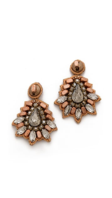 Deepa Gurnani Bold Crystal Earrings
