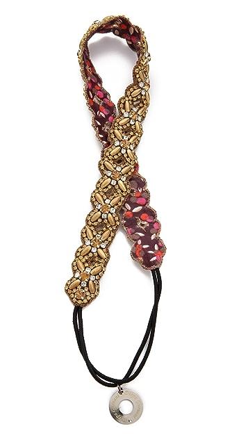 Deepa Gurnani Crystal X Headband