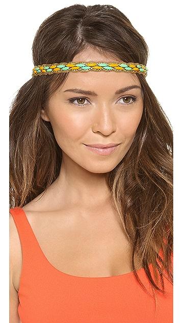 Deepa Gurnani Colorblock Beaded Headband