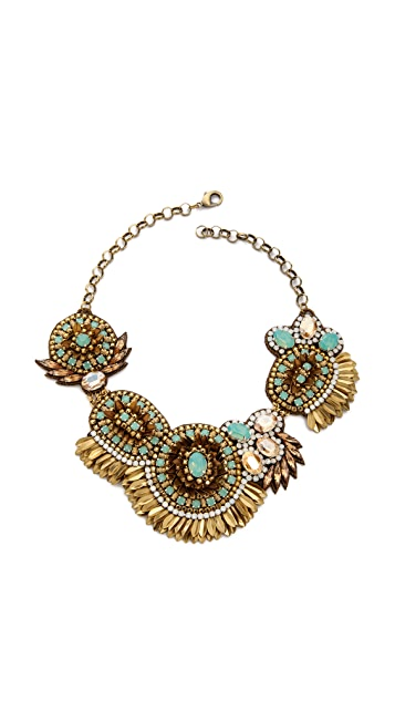 Deepa Gurnani Crystal Statment Bib Necklace