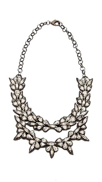 Deepa Gurnani Layered Crystal Necklace
