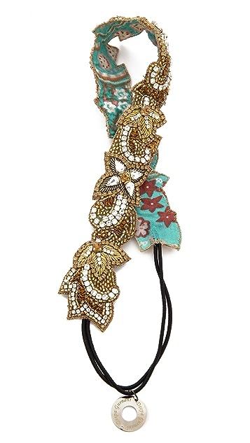 Deepa Gurnani Floral Sequin Headband