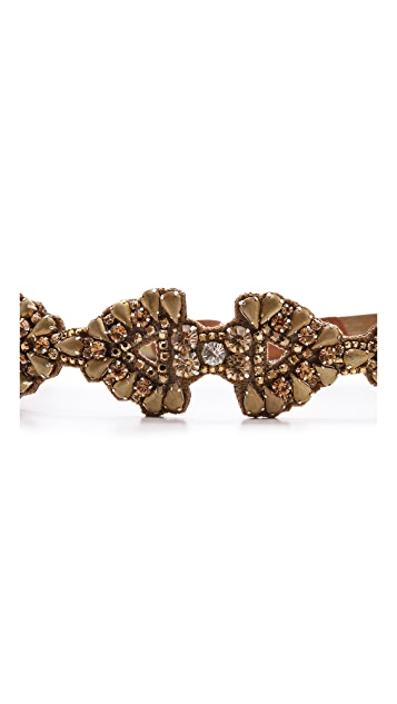 Deepa Gurnani Crystal Encrusted Belt