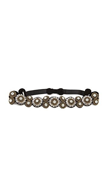 Deepa Gurnani Sunburst Crystal Belt