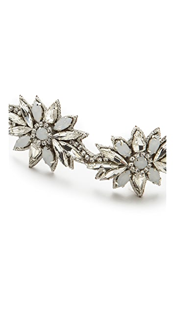 Deepa Gurnani Floral Stone Belt