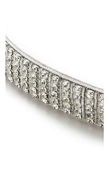 Deepa Gurnani Crystal Woven Belt