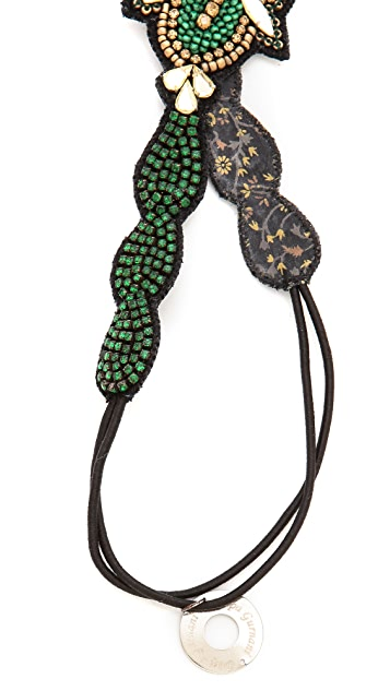 Deepa Gurnani Crystal Encursted Headband