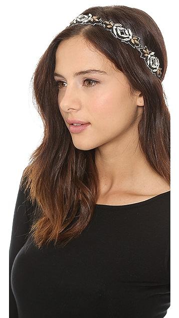 Deepa Gurnani Two Tone Stone Headband
