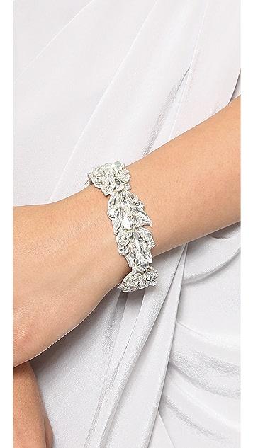 Deepa Gurnani Crystal Petal Bracelet