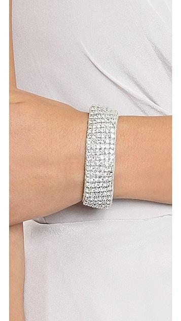 Deepa Gurnani Crystal Woven Bracelet