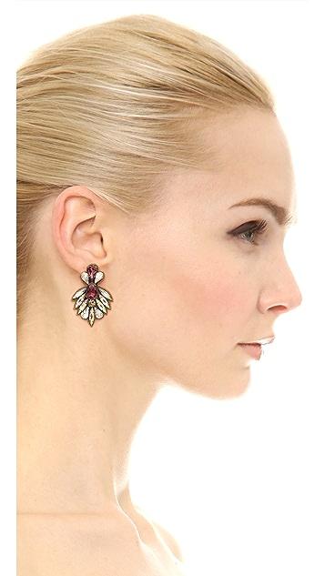 Deepa Gurnani Crystal Statment Earrings