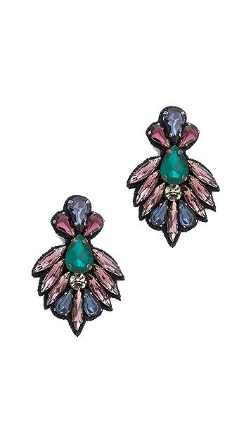 Deepa Gurnani Crystal and Stone Earrings